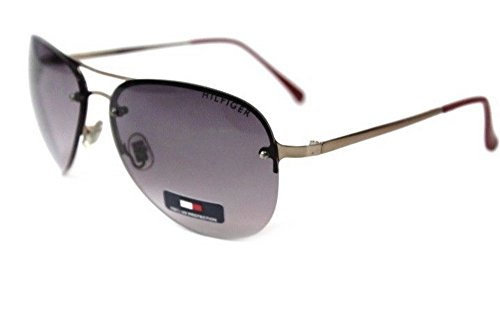 Tommy Hilfiger Felice Rimless Aviator - Ladies Hilfiger Sunglasses Tommy