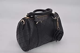 جليمر حقيبة يد صغيرة للنساء , جلد , اسود