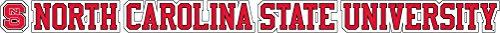 "North Carolina State University 20""x2"" Logo Auto Vinyl Decal"