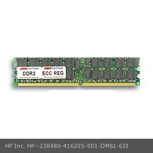 (DMS Compatible/Replacement for HP Inc. 416205-001 Workstation xw6200 512MB DMS Certified Memory DDR2-400 (PC2-3200) 64x72 CL3 1.8v 240 Pin ECC/Reg. DIMM Single Rank - DMS)
