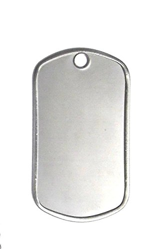 Shiny Stainless Steel Military Blank product image