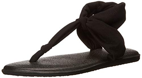 Sanuk Women's Yoga Sling Ella Sandal 2018 Price, Black, 9 M US
