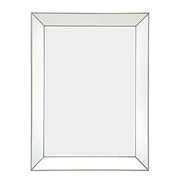 Majestic Mirror Contemporary Rectangle Simple Decorative Glass Accent Mirror