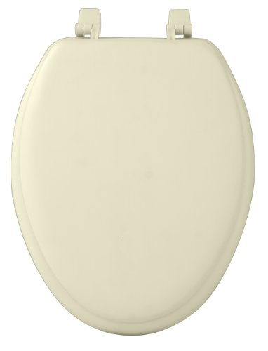 Soft Padded Toilet Seat - Achim Home Furnishings TOVYELBN04 19-Inch Fantasia Elongated Toilet Seat, Soft Bone