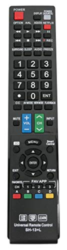 (New SH-13+L Universal Remote Control for Almost All Sharp Brand LCD LED HD TV, Smart TV GB004WJSA GB005WJSA GA890WJSA GB118WJSA GJ221-C GJ221)
