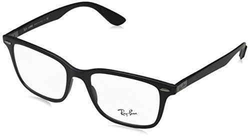 - Ray-Ban RX7144 Square Eyeglass Frames, Sand Black/Demo Lens, 53 mm