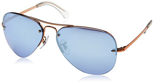 Ray-Ban Men's Metal Man Non-Polarized Iridium Aviator Sunglasses, Copper, 59 - Ray Ban Sunglasses About