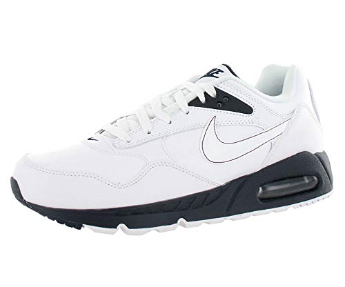 Nike Men's AIR MAX Correlate Leather Running Shoes 8 (White/White/Team RED/DRK Obsdn) (Air Correlate Nike)