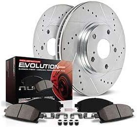 Power Stop K7253 Front /& Rear Z23 Evolution/Sport Brake Upgrade Kit Z23 EvolutionSport Brake Upgrade Kit