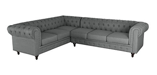 Coaster Roy Traditional Button Tufted Sofa With Rolled