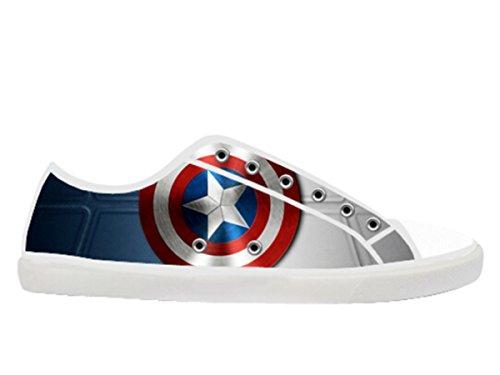 Womens Canvas Low Skor Med Kapten Amerika Tema Duk Kvinnor Shoes15