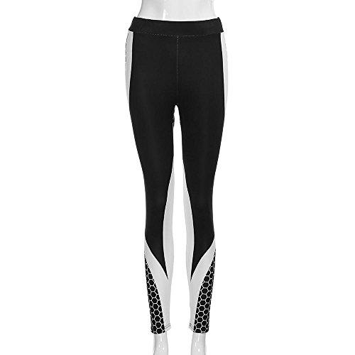 Per Skinny Gym Fit Taglie Donna Jogging Black D Elastico Stampa Leggins Alta Forti Slim Mambain Eleganti Yoga Vita 3 Con Pantaloni Sportivi Pantalone Fitness 81Uqw