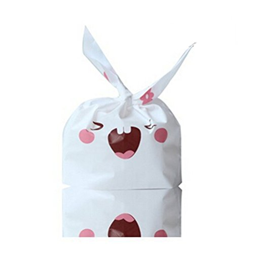 Cute Rabbit Bag Bunny Party Easter Wedding Candy Cookie Treat Biscuit Gift Plastic Bags (20, (Peacock Makeup Ideas Halloween)