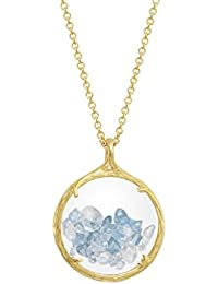 Catherine Weitzman Shaker Birthstone Pendant Necklace, July Ruby