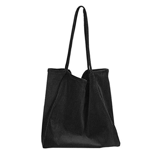 Severkill Women's Fashion Pleated large capacity Shoulder Bag Hundred Canvas Handbags Casual Bag ()