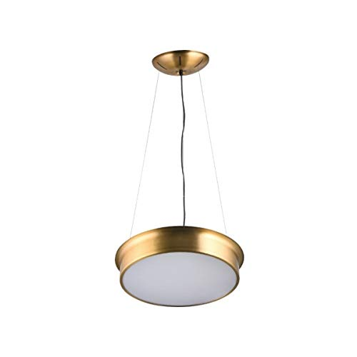 Copper Steel Drum Shade Led Light Fixture with Acrylic Bottom Cover