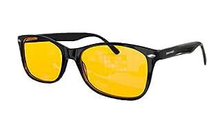 """Blue Light Blocking Glasses - FDA Registered Gamer Glasses and Computer Eyewear for Deep Sleep - Digital Eye Strain Prevention - (Regular) - Bonus Book """"7 Ways To Sleep Better"""""""