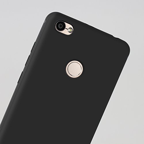 Funda para Xiaomi Redmi Y1 / Redmi Note 5A Prime , IJIA Puro Negro Soñador Mariposas TPU Silicona Suave Cover Tapa Caso Parachoques Carcasa Cubierta Case para Xiaomi Redmi Y1 / Redmi Note 5A Prime (5. Black-XY15