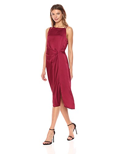NIC+ZOE Women's Side Ruched Dress, Milano Red, - Milano Red Dress