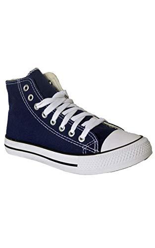 Para Aarhon Zapatillas Lona Azul Mujer De ff8wqA0