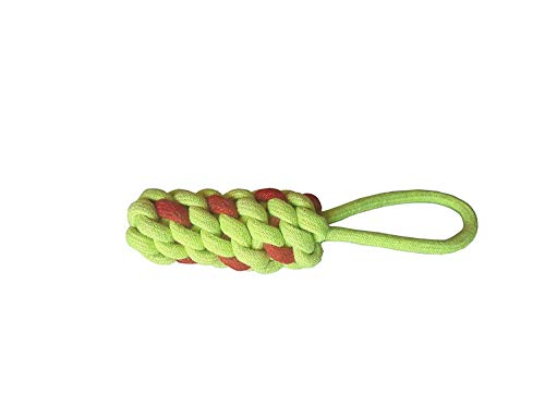 EPS Combo of 3 Durable Pet Teeth Cleaning Chewing Biting Knotted Small Puppy Toys -100% Natural & Safe Cotton (Color May Vary)