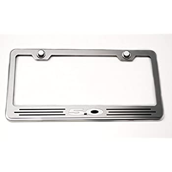 Screw Caps 2014-2017 1x AMG STAINLESS STEEL LICENSE PLATE FRAME