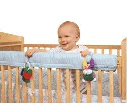 Easy Teether Crib Rail Cover Blue by Leachco