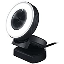 Razer RZ19-02320100-R3U1 Kiyo - Full HD 1080P Streaming Camera - Pro Webcam Optimized for Youtube/Twitch - Worlds First In-Built Ring Light