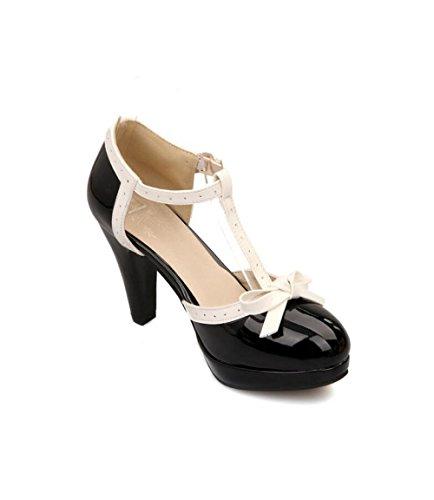 Cuatro Estaciones Muyii Las De Alto Zapatos Tacón Mujeres Moda Sandalias Black qxaT6aY0n
