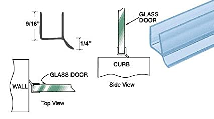CRL Dual Durometer PVC Seal and Wipe for 1//2 Glass 31 in long