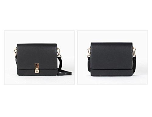 Sac Noir Crossbody Printemps ZCJB Bag Sac Petites Début Du Bag En Femmes Bandoulière Messenger Couleur Noir À Cuir Au Femmes R55wqOFSH