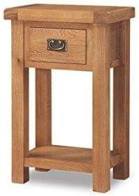Original rústico de roble macizo mesa auxiliar - pequeño ...