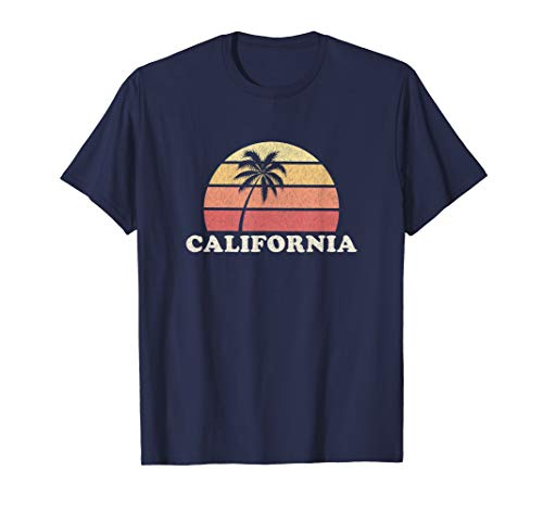 (California Vintage T Shirt Retro 70s Throwback Tee Design)
