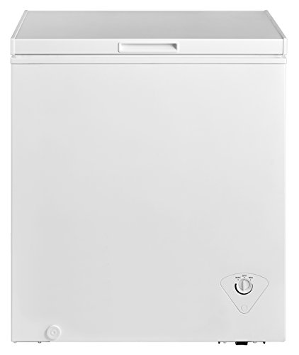 Midea WHS-185C1 Single Door Chest Freezer, 5.0 Cubic Feet, White by MIDEA