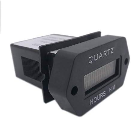 LCD Num/érique Compteur Dheures Accumuler le compteur de minuterie 999999.59 encliquetable dans le v/éhicule bateau camion moto pour g/én/érateur DC 12-36V
