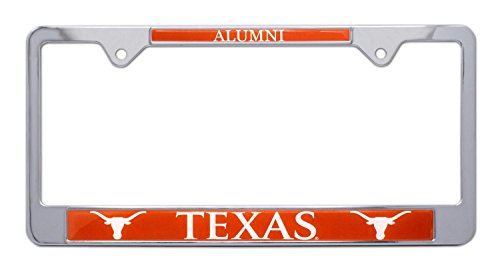 All Metal NCAA UT Longhorns Alumni License Plate Frame (Texas)