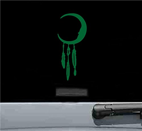 Moon dream catcher Vinyl Decal Sticker (GREEN)
