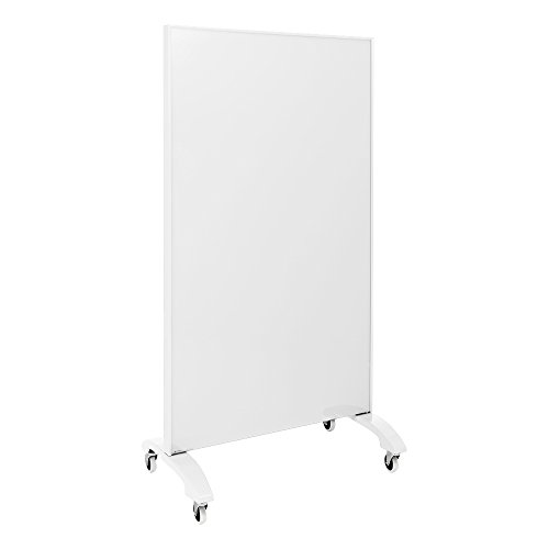 Learniture Double-Sided Magnetic Tempered Glass Partition, 36'' L x 60'' H, White, LNT-MDGP-90150WH-PK by School Outfitters