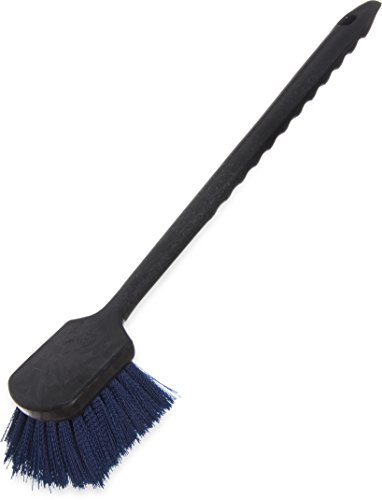 "Carlisle 36505L14 Sparta Utility Scrub Brush, 20"" Handle, Blue"