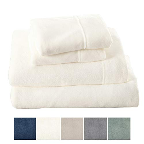 - Great Bay Home Extra Soft Cozy Velvet Plush Sheet Set. Deluxe Bed Sheets with Deep Pockets. Velvet Luxe Collection (King, White)