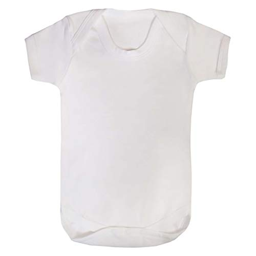 TWISTED ENVY Sublimation Baby Bodysuit Blanks 12 Pack Infant Short Sleeve Body Suit White Variety Pack