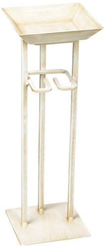 Deco Flair Rope, Tealight Votive Holder Antique White Tower, String of 5 - Tealight Holder Tower