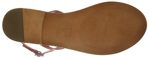 Frye Womens Ruth Whipstitch Platte Sandaal Red-73768