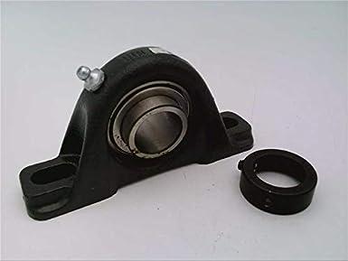 Timken LAK1 LAK Series bloque de cojinete de bolas de hierro fundido con 2 pernos, diámetro de orificio de 25,4 mm, collar céntrico