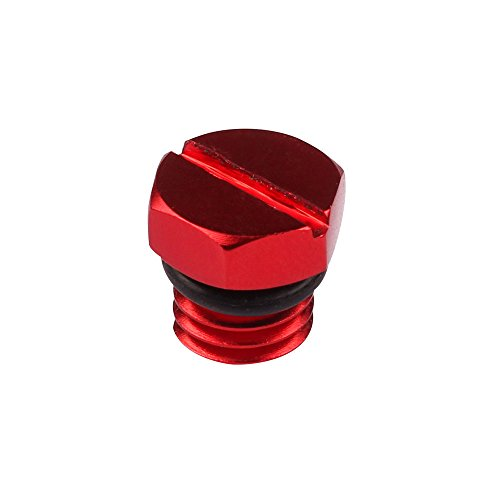 (EDTara Air Bleeder Screw Automobile Universal Fuel Filter Screw High Strength Aluminum Alloy Screw Car Accessory Red)