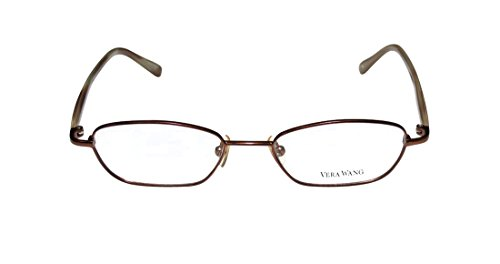 Vera Wang V136 WomensLadies Rx-able For Young People Designer Full-rim EyeglassesEyewear (46-17-135 Brown  Beige)
