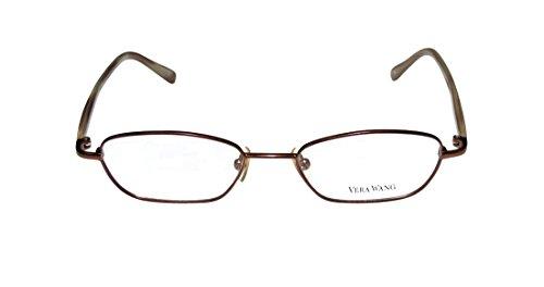Vera Wang V136 WomensLadies Rx-able For Young People Designer Full-rim EyeglassesEyewear (46-17-135 Brown  Beige)