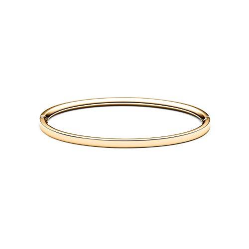 - MVMT Women's Ellipse Thin Bangle Bracelet | Clasp Closure, Stainless Steel | Gold