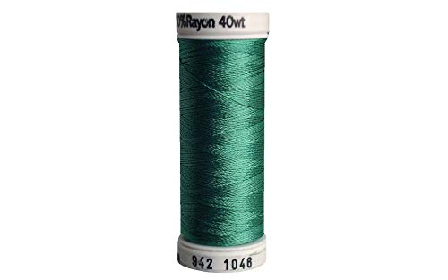 Sulky 942-1046 Rayon Thread for Sewing, 250-Yard, Teal