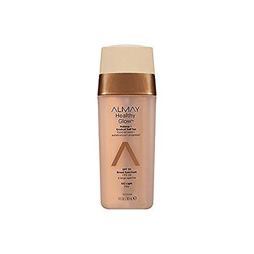 Almay Base de Maquillaje con Autobronceador para Rostro, Light, 30 ml